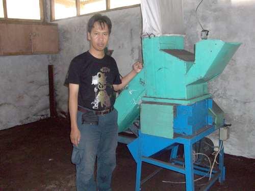 mesin cacah kompos granul