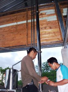 distilator kapasitas boiler 40 liter
