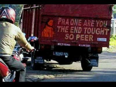kata lucu bak truk