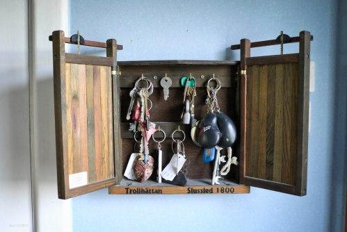 Tempat kunci berbentuk miniatur pintu air