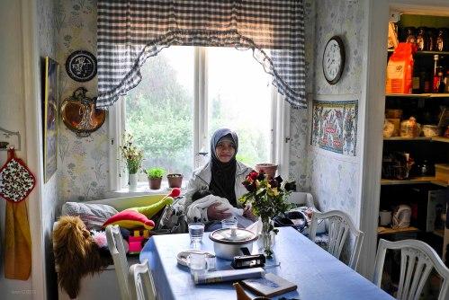 Ruang dapur yang nyaman dan asri