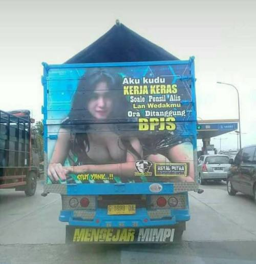 tulisan lucu bak truk pantura