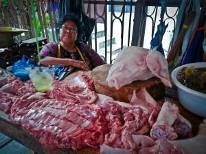penjual daging babi