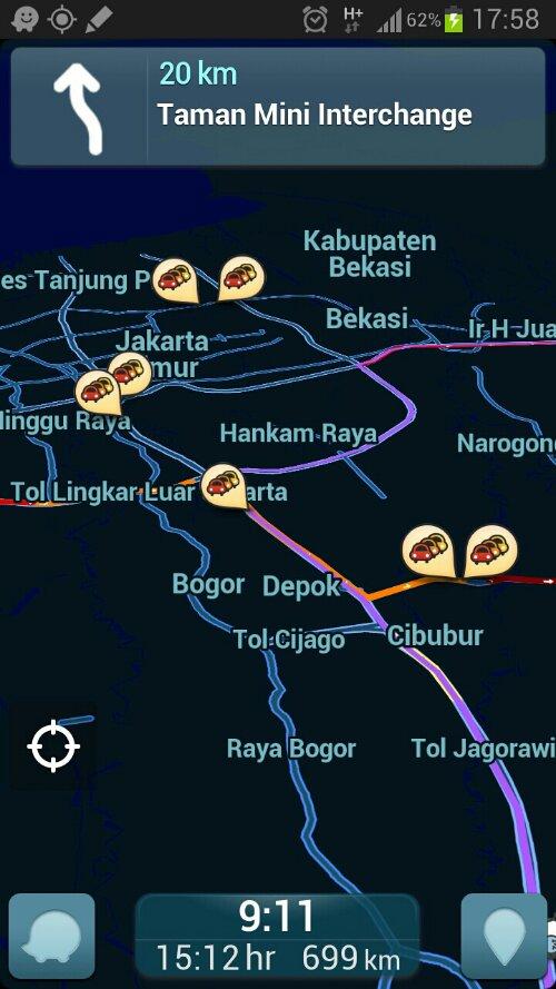Tips Android: Waze Social GPS Maps & Traffic, Aplikasi Menghindari Jalan Macet (1/3)