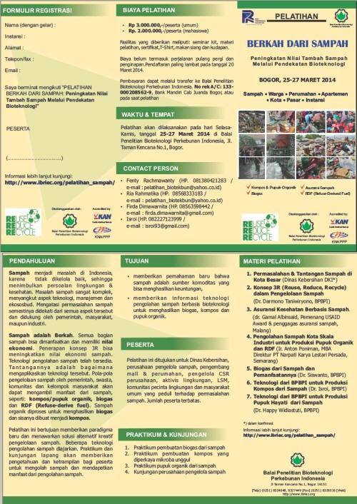 Pelatihan Pengelolaan Sampah Berbasis Bioteknologi