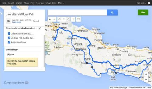 Rute mudik dengan Google Maps