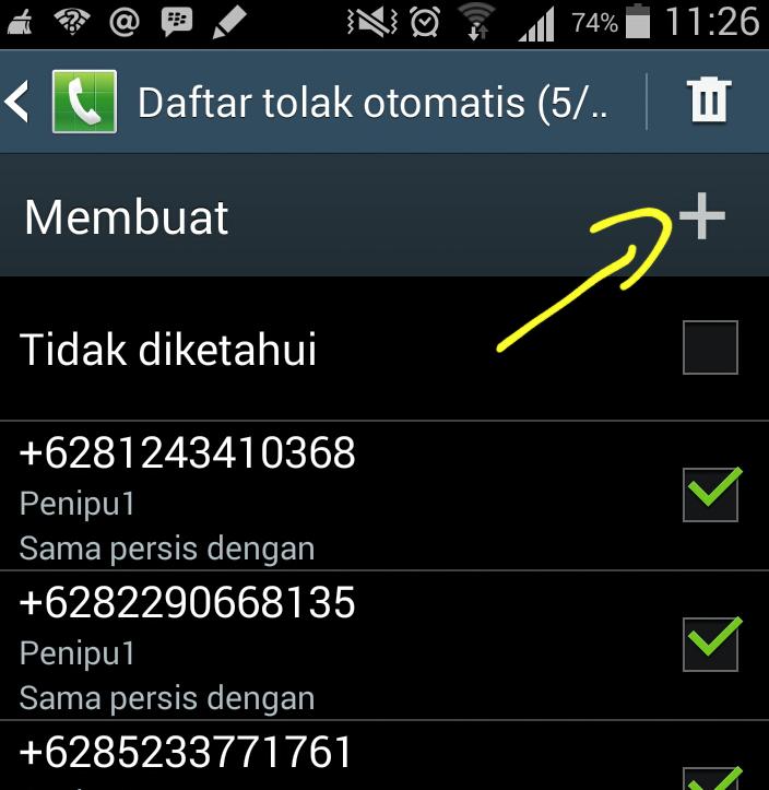 Image result for cara memblokir nomor hp di android