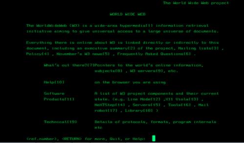 First Website by Tim BL