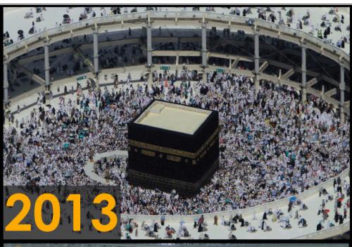 Foto kakbah tahun 2013 (Sumber: Saudi Gazette)