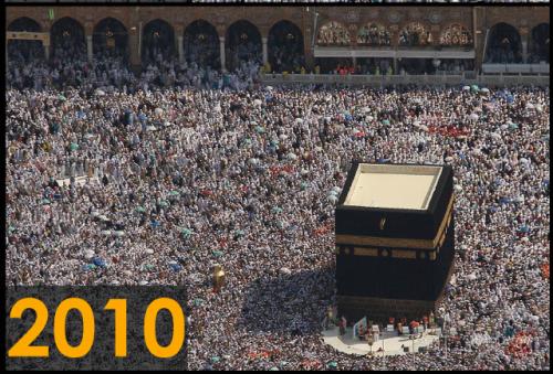 Foto kakbah tahun 2010 (Sumber: Saudi Gazette)
