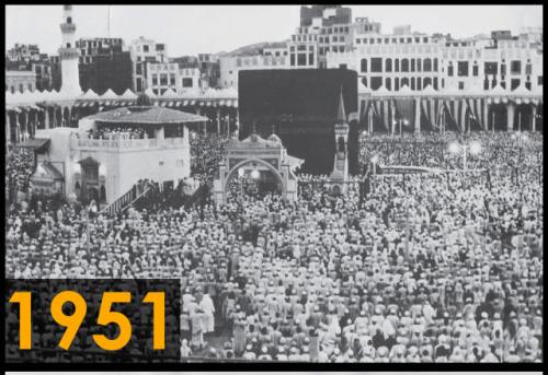 Foto kakbah tahun 1951 (Sumber: Saudi Gazette)