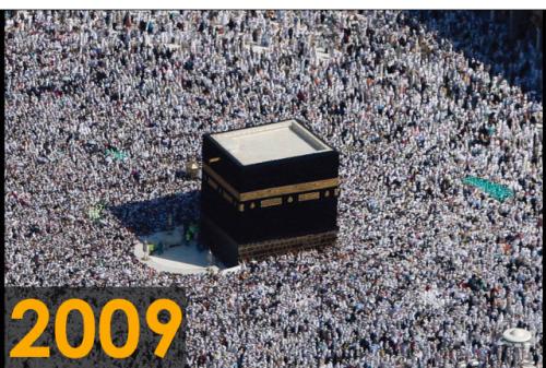 Foto kakbah tahun 2009 (Sumber: Saudi Gazette)