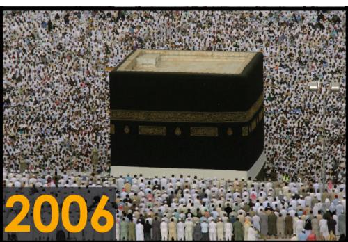 Foto kakbah tahun 2006 (Sumber: Saudi Gazette)