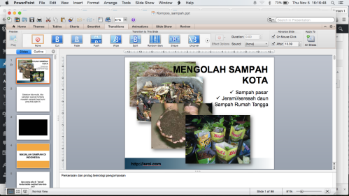 video dari presentasi Power Point