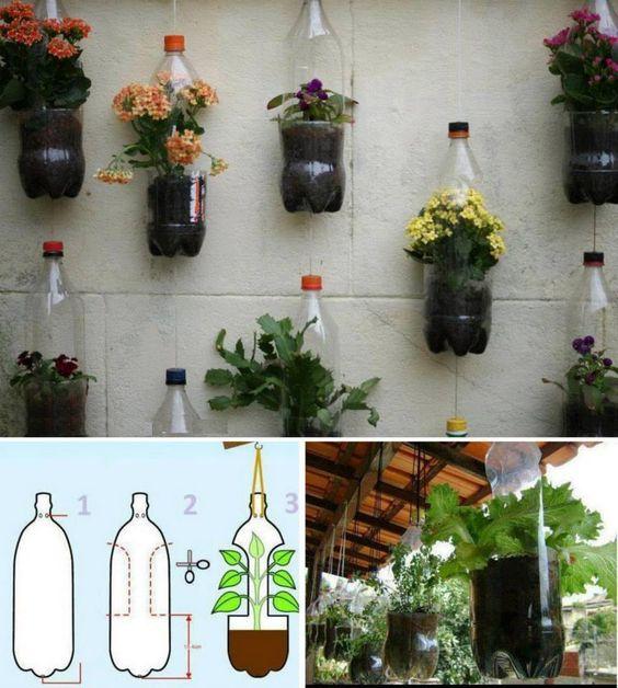 Memanfaatkan Sampah Botol Plastik Bekas Untuk Pot Tanaman Berbagi Tak Pernah Rugi