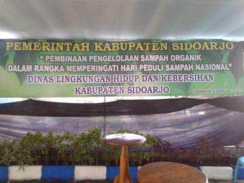Kegiatan pembinaan pengelolaan sampah organik di perum MCG Larangan, Kab. Sidoarjo.