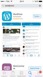Wordpress Mobile di HP Smartphone