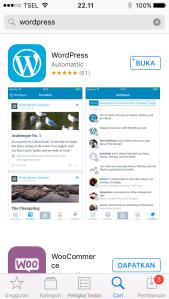 Wordpress Mobile di HP Smartphone