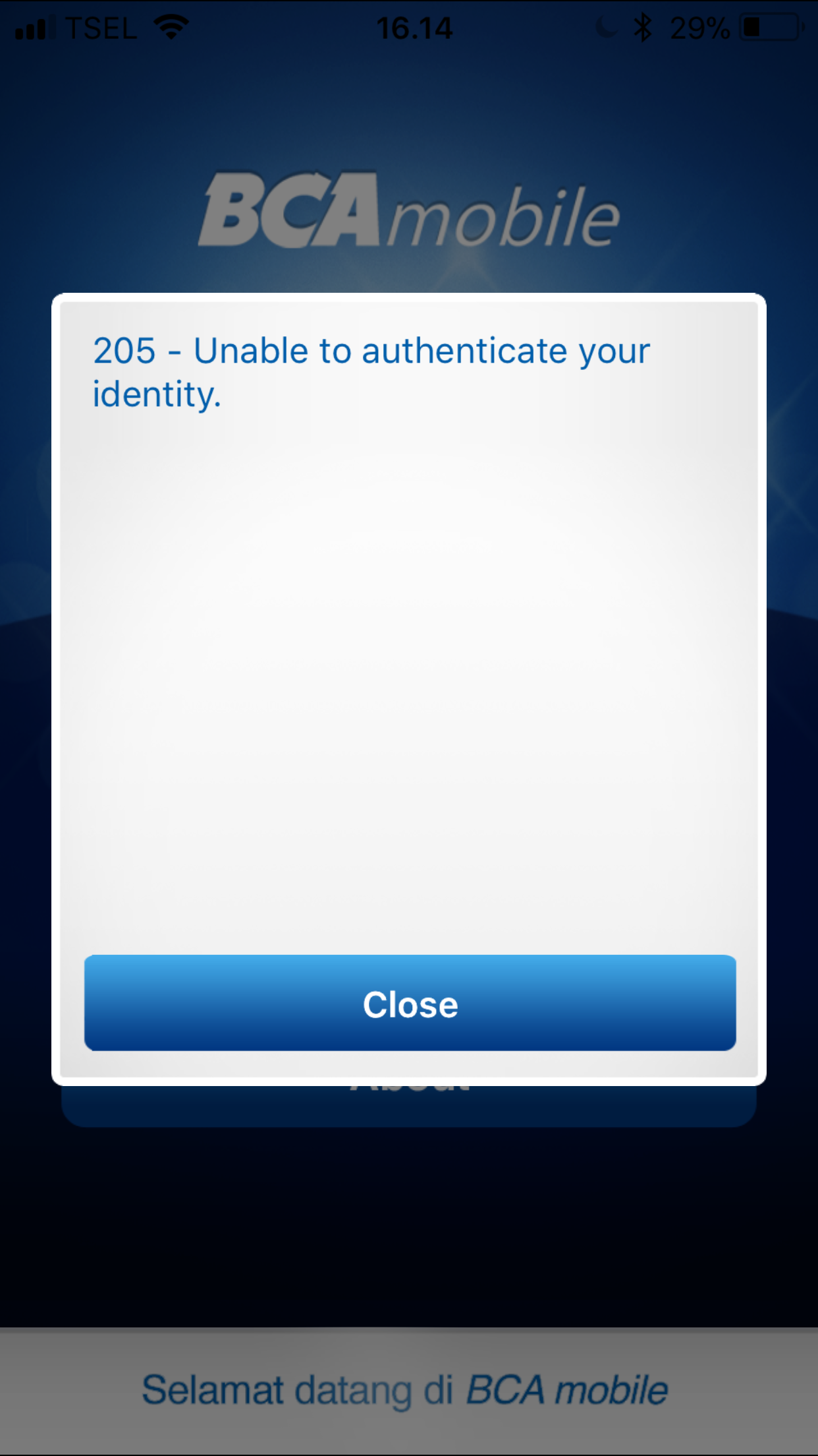 Mengatasi Error 205 Enable to Authenticate Your Identity pada ...